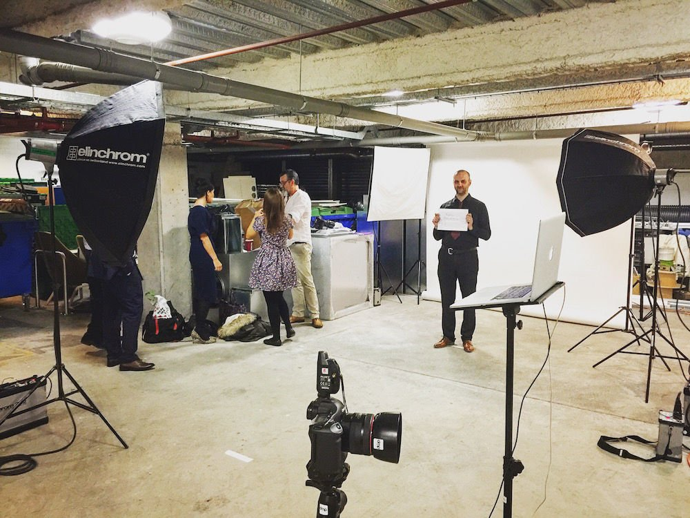 Advertising agency photo shoot in the studio